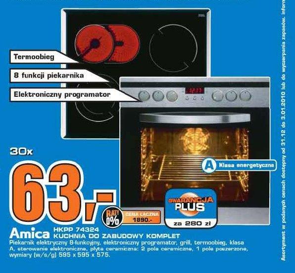 ARCHIWUM  Ceny promocyjne  Amica Kuchnia  ulotki, promocje, zniżki -> Kuchnia Gazowo Elektryczna Amica Media Expert