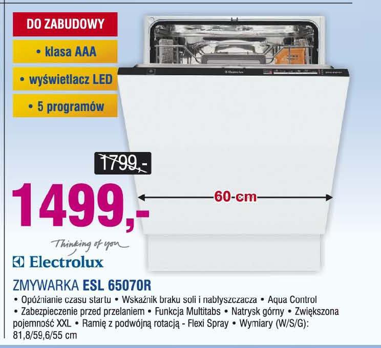 Electrolux Esl Electrolux Zmywarka Esl 65070r