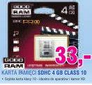 GoodRam KARTA PAMIĘCI SDHC 4 GB CLASS 10