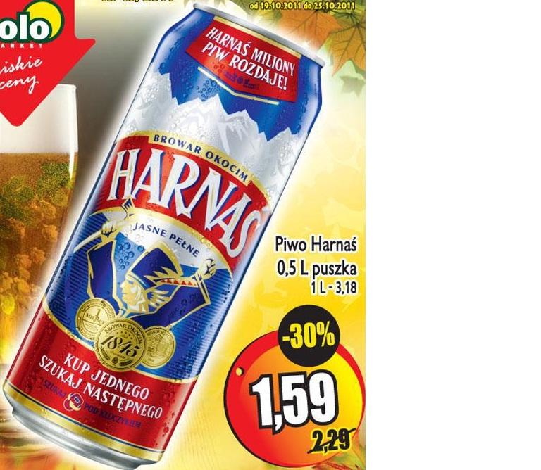 Piwo Harnaś puszka