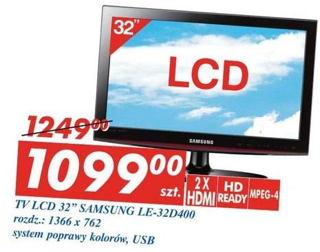 archiwum tv lcd 32 samsung le 32d400 auchan 16 11 2011 22 11 2011. Black Bedroom Furniture Sets. Home Design Ideas
