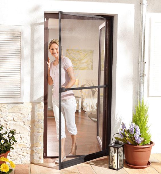 Moskitiera drzwiowa z ramą aluminiową