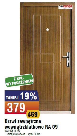 Drzwi zewnętrzne wewnątrzklatkowe RA 09