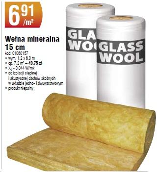 Wełna mineralna 15 cm