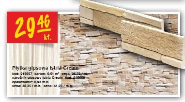 Płytka gipsowa Istria Cream kod: 915657 karton: 0,51 m2