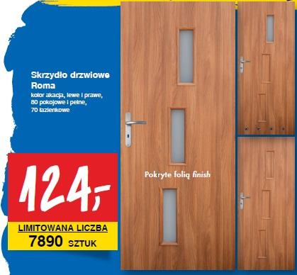 Archiwum skrzyd o drzwiowe roma kolor akacja lewe i for Castorama roma