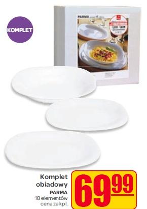 Komplet obiadowy PARMA 18 elementów cena za kpl.