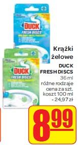 Krążki żelowe DUCK FRESH DISCS 36 ml różne rodzaje