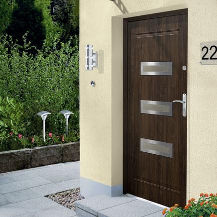Drzwi zewnętrzne Inox