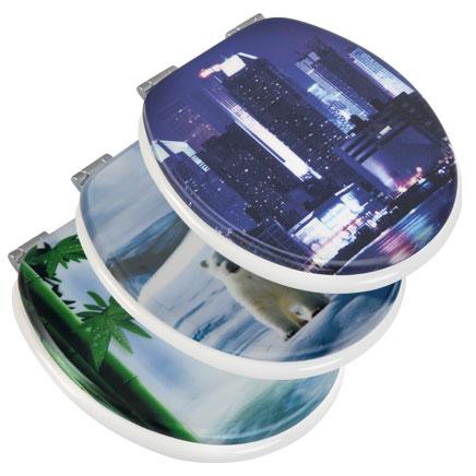 Deski sedesowe z motywem 3D (trójwymiarowe)