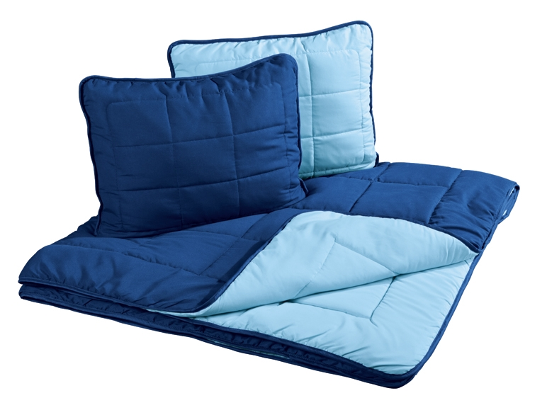 Dwustronny komplet do spania z mikrowłókna