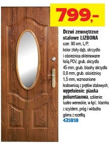 Drzwi zewnętrzne stalowe LIZBONA