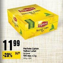 Herbata Lipton Yellow Label Unilever