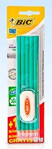 Ołówek EVOLUTION 10 sztuk + gumka