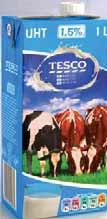 Mleko Tesco 1,5% UHT 1 l