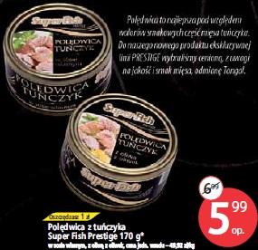 Polędwica z tuńczyka Super Fish Prestige 170 g