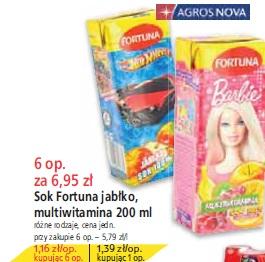 Sok Fortuna jabłko, multiwitamina 200 ml