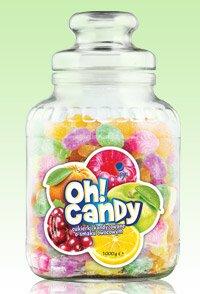 Cukierki kandyzowane Oh! Candy o smaku owocowym, 1 kg