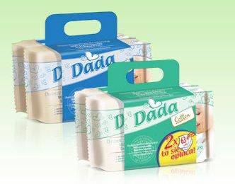 Chusteczki nawilżane Dada, 2-pak