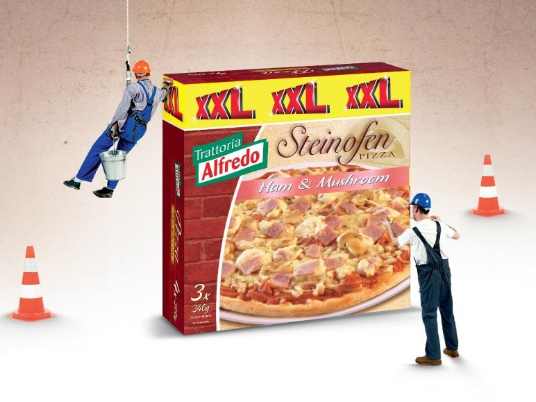 Pizza z szynką i pieczarkami XXL, 3x340 g
