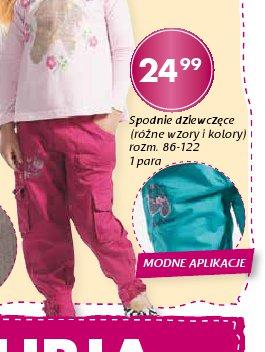 Spodnie dziewczęce (różne wzory i kolory) rozm. 86-122