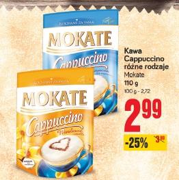 Kawa Cappucino różne rodzaje Mokate