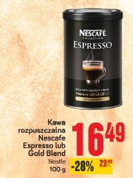 Kawa rozpuszczalna Nescafe Espresso lub Gold Blend Nestle