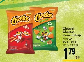 Chrupki Cheetos różne rodzaje Frito Lay