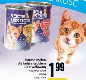 Karma mokra dla kota z drobiem lub z wołowiną Kocie Łakocie