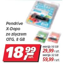 Pendrive X-Depo ze złączem OTG, 8 GB