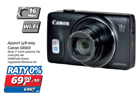 Aparat cyfrowy Canon SX600