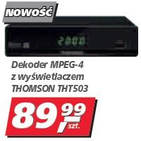 Dekoder MPEG-4 z wyświetlaczem THOMSON THT503