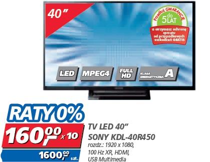 """TV LED 40"""" SONY KDL-40R450"""
