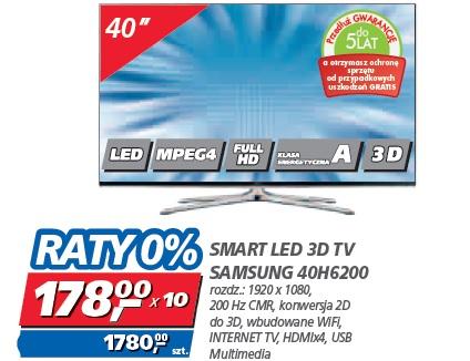 SMART LED 3D TV SAMSUNG 40H6200