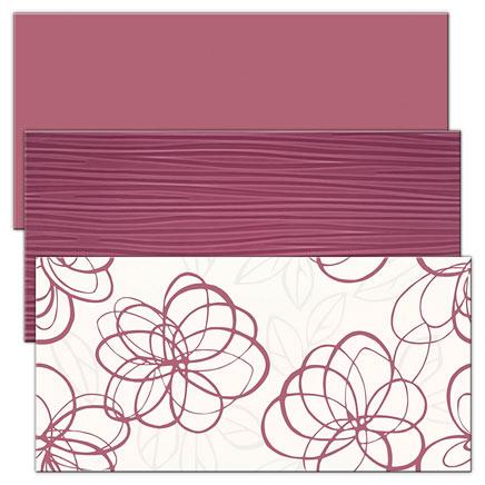 Płytki ścienne Vivida fioletowe i zielone
