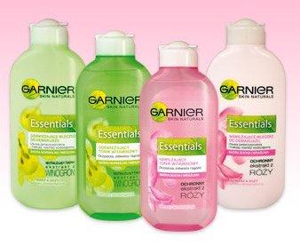 Essentials mleczko lub tonik Garnier, 200 ml