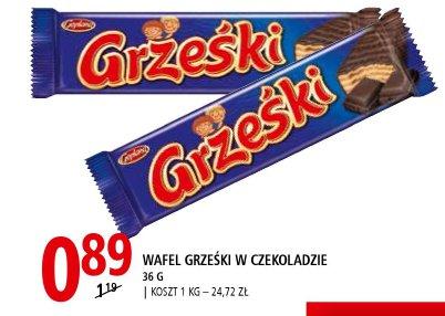 Wafel Grześki w czekoladzie