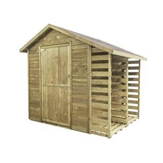 Domek z drewutnią STELMET