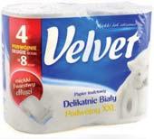 Papier toaletowy podwójnie długi Velvet 4 rolki