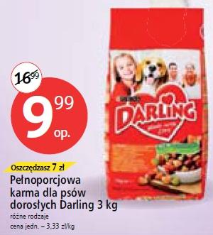 Pełnoporcjowa karma dla psów dorosłych Darling 3 kg