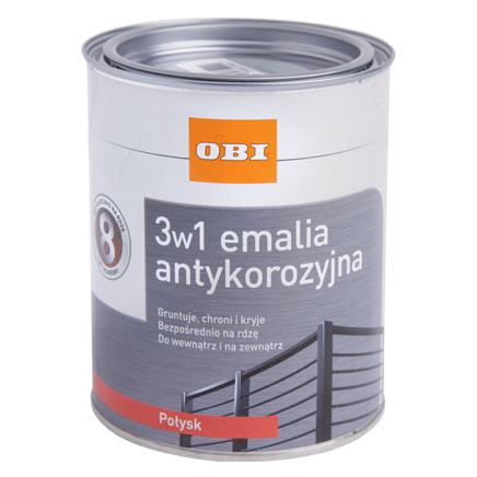 OBI 3w1 Emalia antykorozyjna 0,75 l