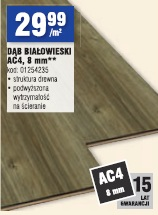 DĄB BIAŁOWIESKI AC4, 8 mm