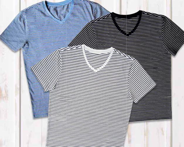 T-shirt męski w prążki