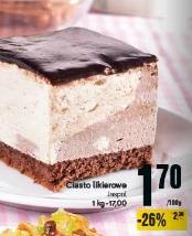 Ciasto likierowe Jaspol