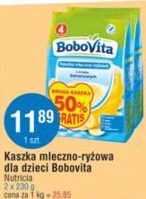 Kaszka mleczno-ryżowa dla dzieci Bobovita Nutricia