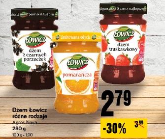 Dżem Łowicz różne rodzaje Agros Nova