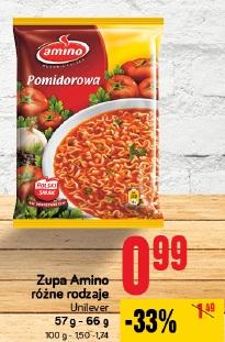 Zupa Amino różne rodzaje Unilever