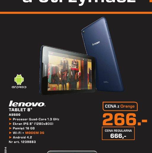 "Lenovo Tablet 8"" A5500"