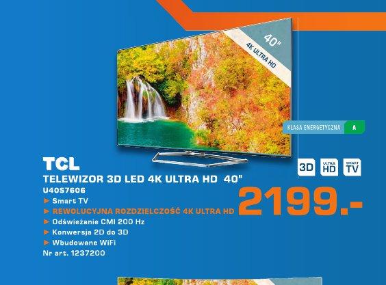 "TCL Telewizor 3D LED 4K  Ultra HD 40 """