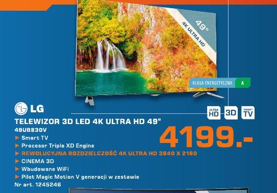 "LG Telewizor 3D LED 4K Ultra HD 49"""